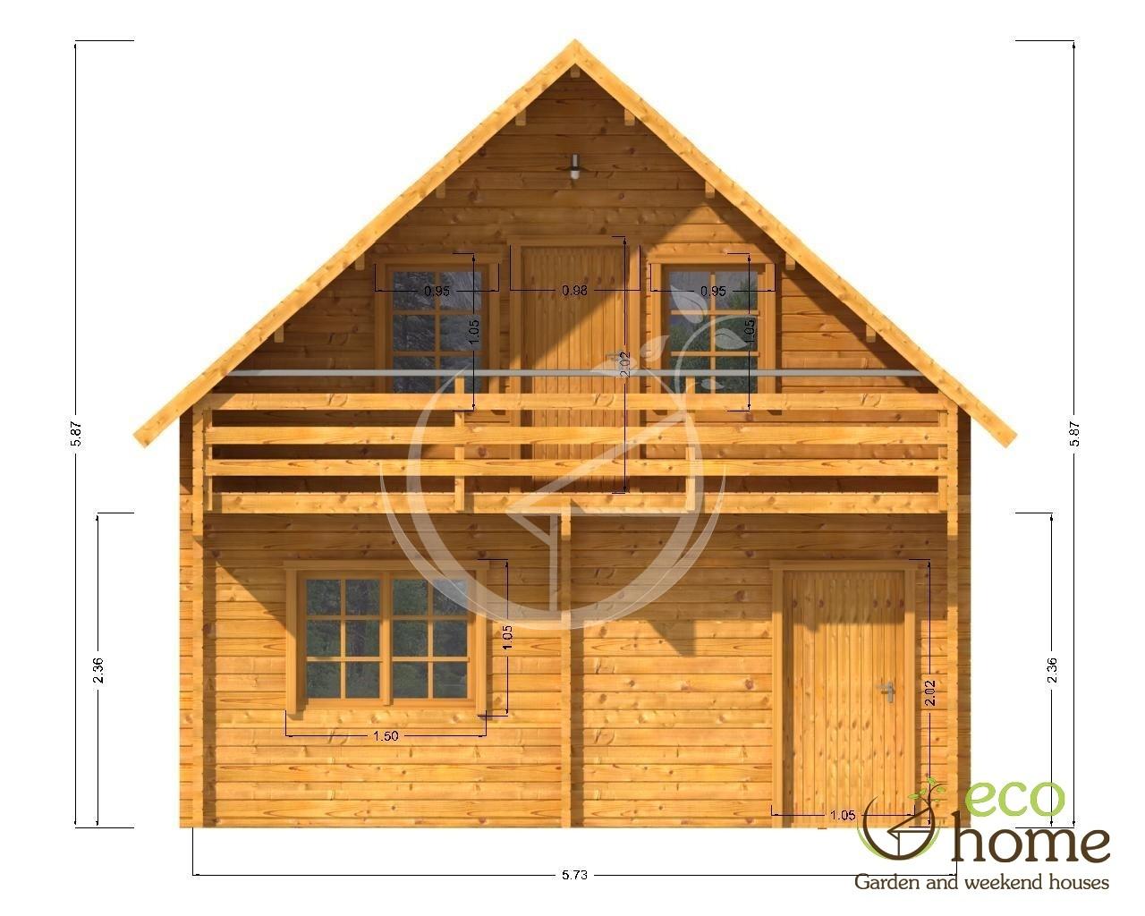 Two Storey Log Cabin Verona Eco Home