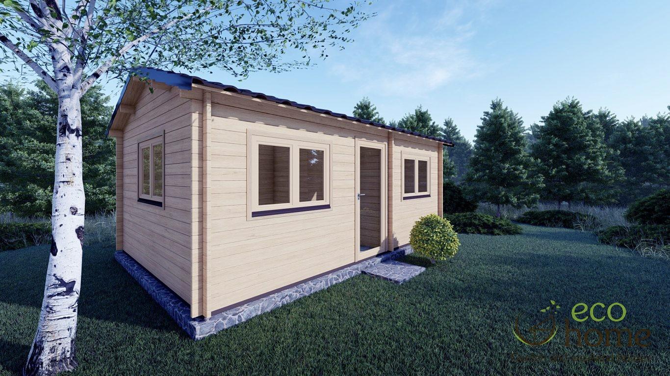 Two Room Log Cabin Murray 6m X 4m Log Cabin Ireland