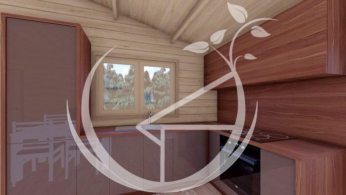 1745mm On3 Bed Studio Linus 6x6+wc