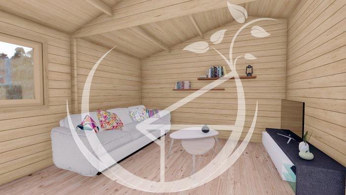 1845mm On3 Bed Studio Linus 6x6+wc