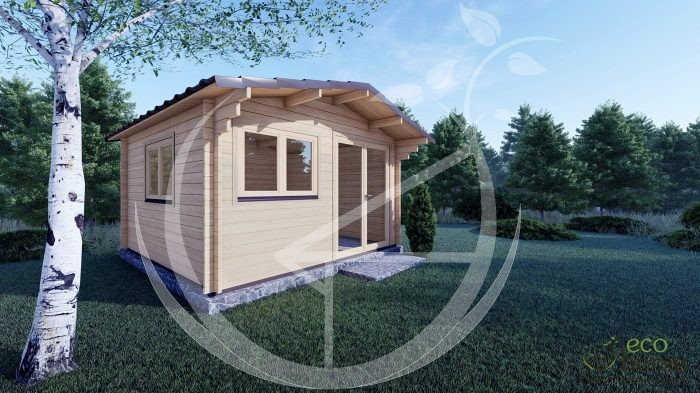 45mm Linus 4m X 4m Garden Log Cabins For Sale In Ireland Best Quality Log Cabins