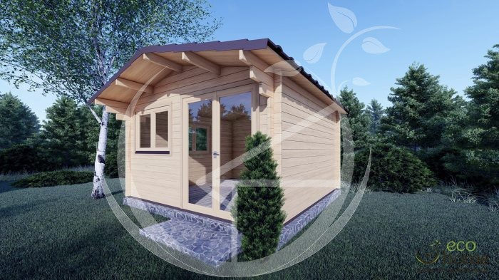5mm Linus 4m X 4m Garden Log Cabins For Sale In Ireland Best Quality Log Cabins 1