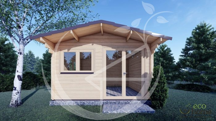 5mm Linus 4m X 4m Garden Log Cabins For Sale In Ireland Best Quality Log Cabins 2