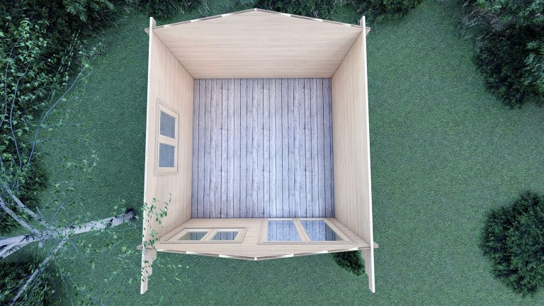 5mm Linus 4m X 4m Garden Log Cabins For Sale In Ireland Best Quality Log Cabins 3