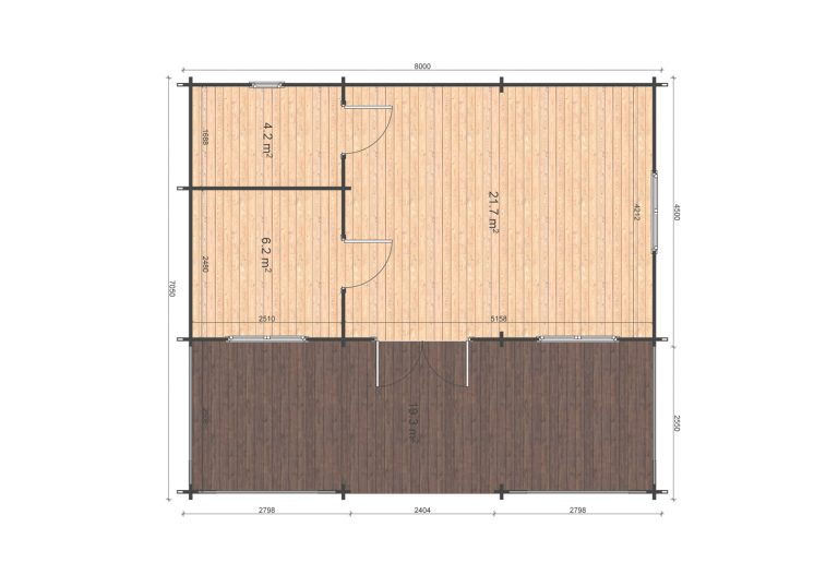 Alma Floor Plan Log Cabins Ireland