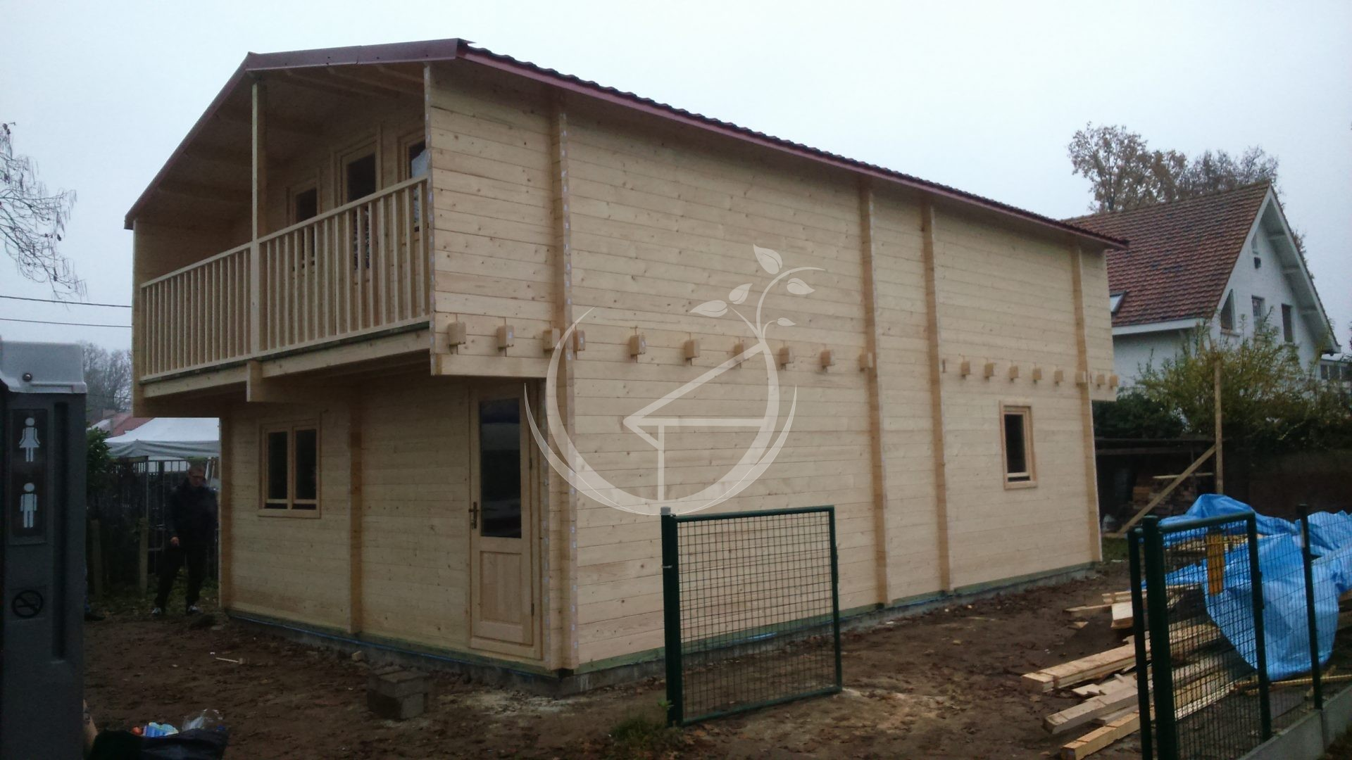 Two storey log cabin verona x log cabins ireland for Two storey log cabin