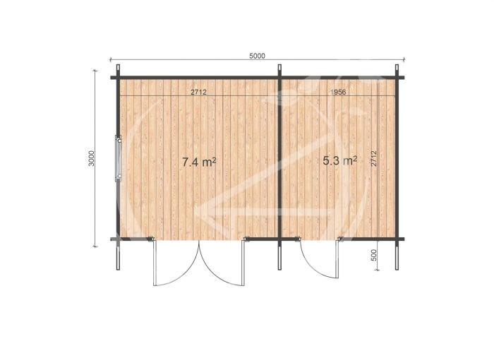 Deko 5x3 Floor Plan