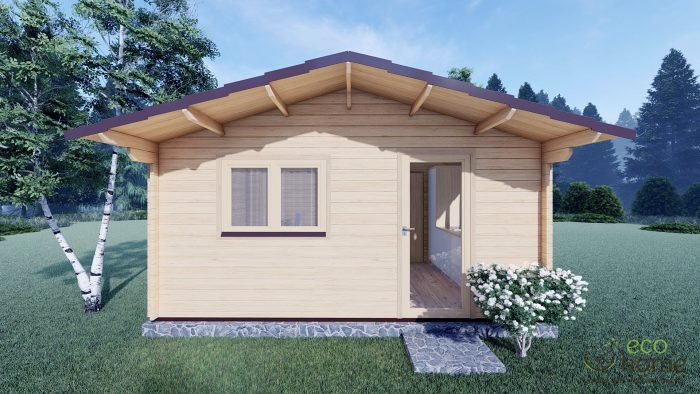 Eco One Bed Log Cabin 5m X 5.7m 2