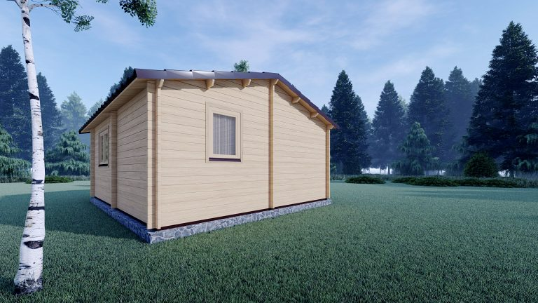 Eco One Bed Log Cabin 5m X 5.7m 5