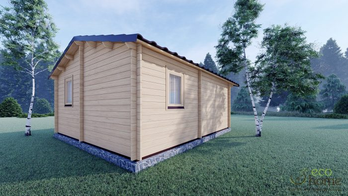 Eco One Bed Log Cabin 5m X 5.7m 6