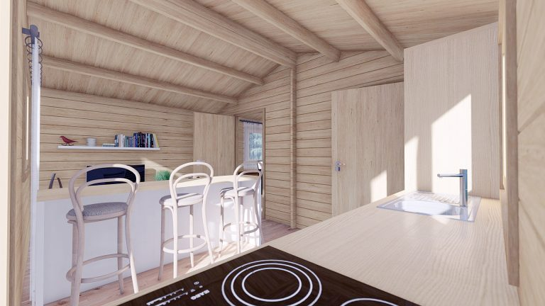 Eco One Bed Log Cabin 5m X 5.7m 7