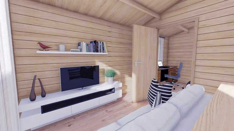 Eco One Bed Log Cabin 5m X 5.7m 9