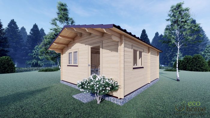 Eco One Bed Log Cabin 5m X 5.7m3