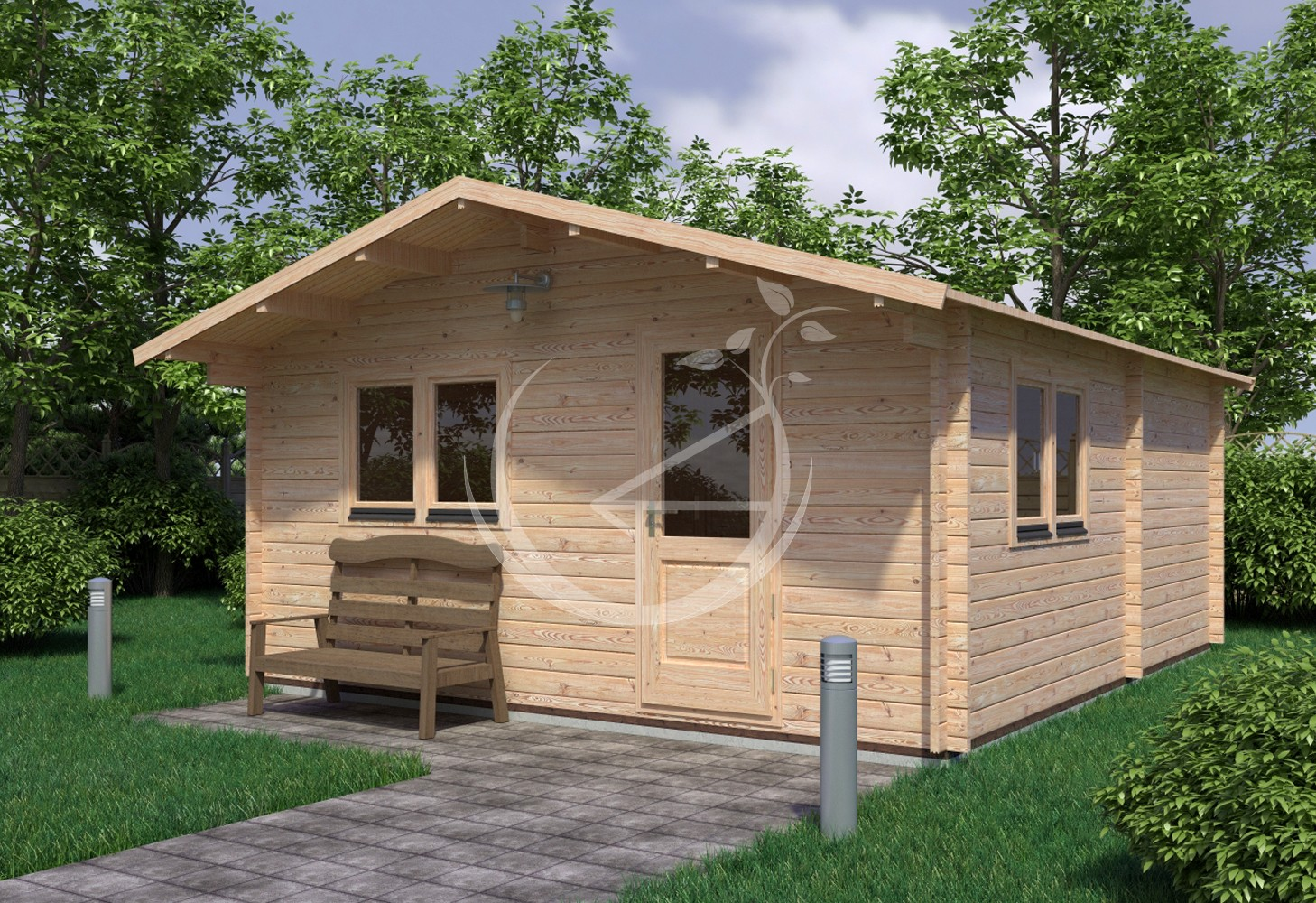... One Bed Log Cabin Ecohome Log Cabins Tullamore. Eko 5x5,7