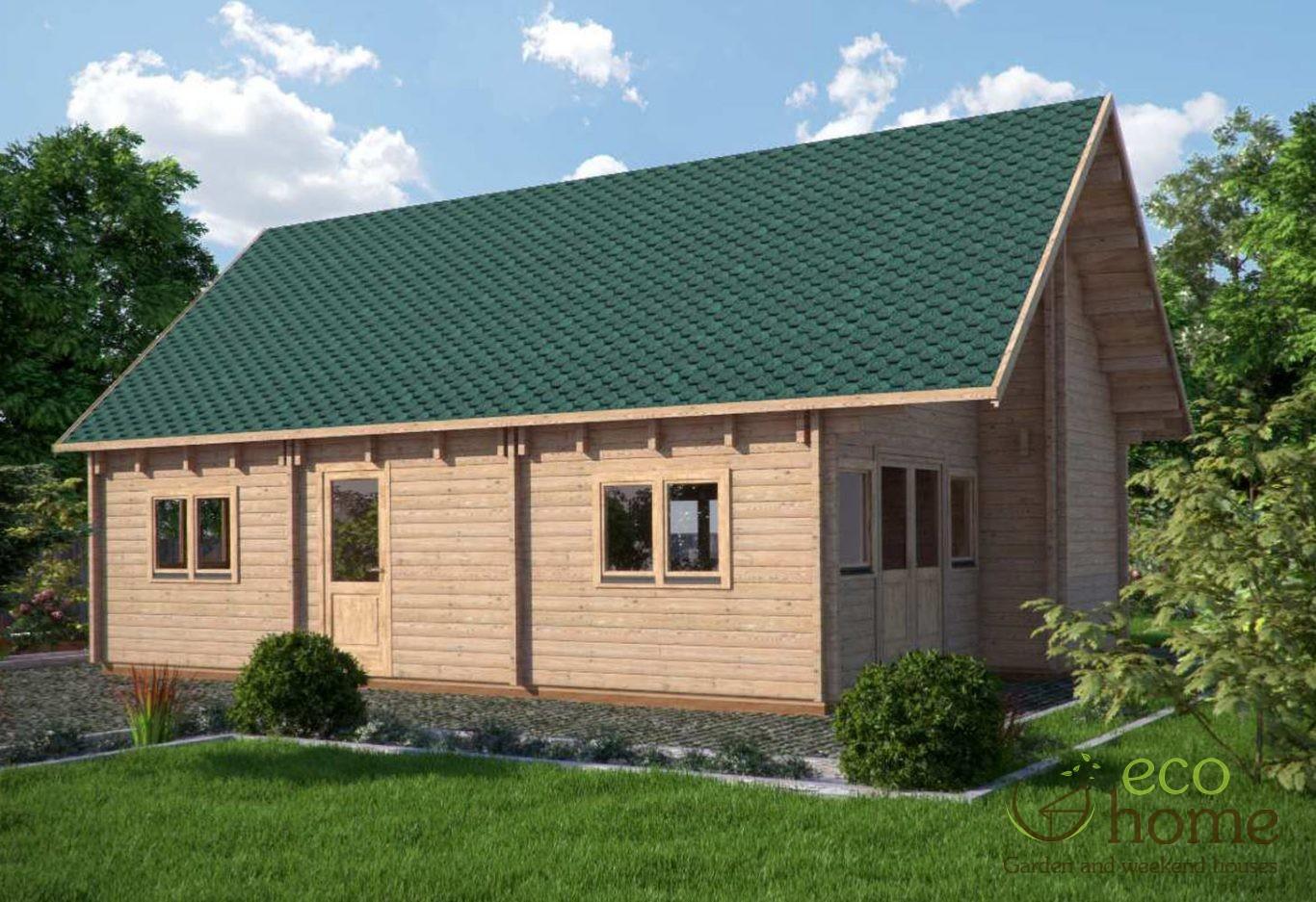 Two storey four bed log cabin felix 6m x 10m log cabins for Two storey log cabin