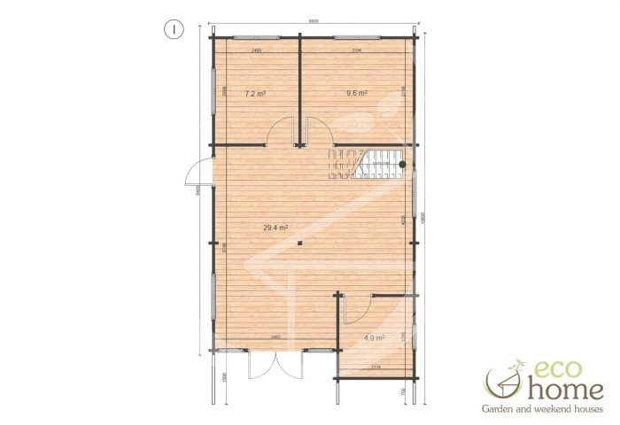 Four Bed Two Storey Log Cabin Log House For Sale In Ireland Felix Floor Plan I