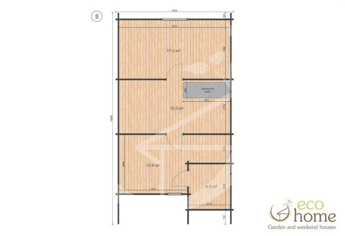 Four Bed Two Storey Log Cabin Log House For Sale In Ireland Felix Floor Plan Ii