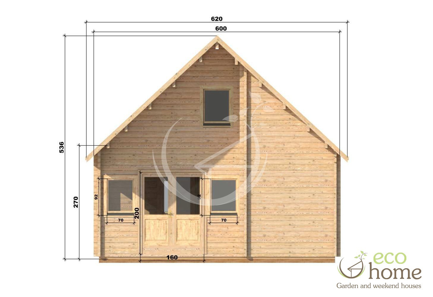 TWO STOREY FOUR BED LOG CABIN Felix 6m x 10m Log Cabins Ireland