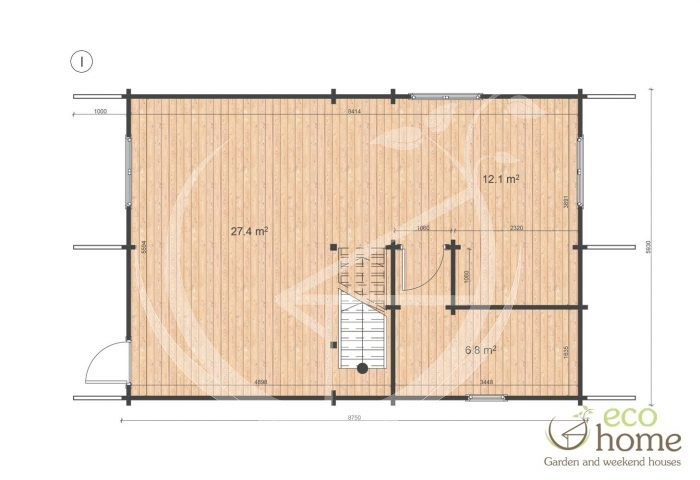 Four Bed Two Storey Log Cabin Log House For Sale In Ireland Verona Floor Plan 1