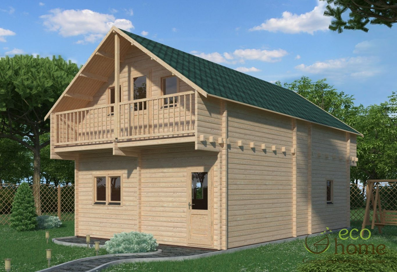 Two storey log cabin verona x log cabins ireland for 5 structural types of log homes