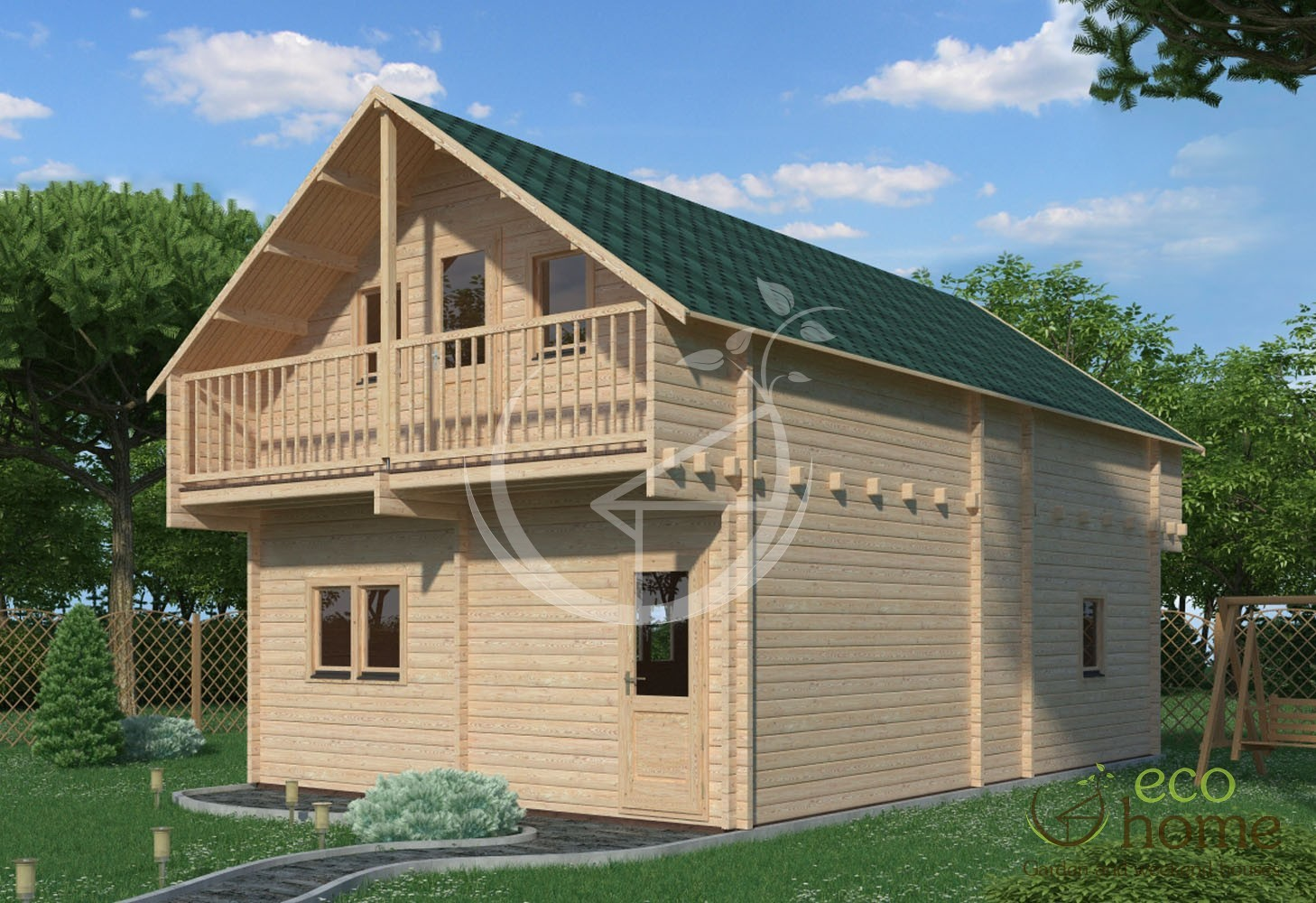 Two storey log cabin verona x log cabins ireland for 4 bed log cabins for sale