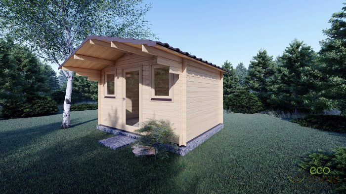 Garden Log Cabin Genova 3.8m X 3m Log Cabins Ireland