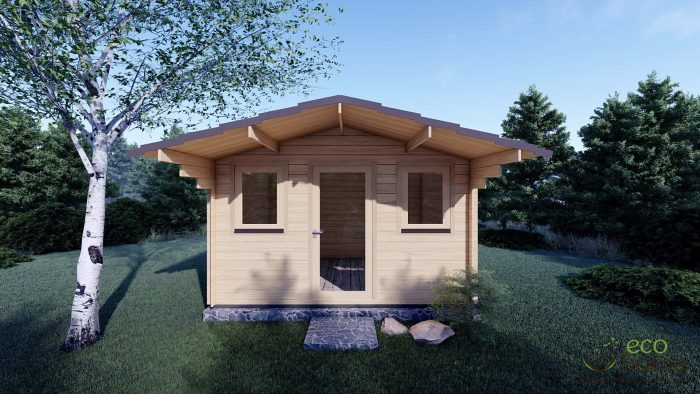 Garden Log Cabin Genova 3.8m X 3m Log Cabins Timber Cabins For Sale Ireland
