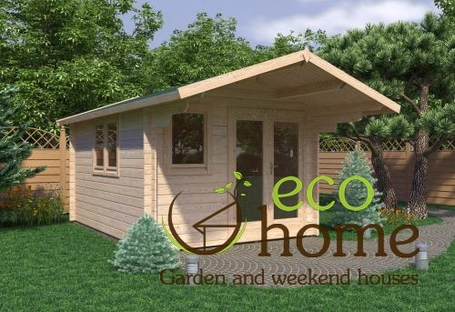 Garden Log Cabin Alva 3x4