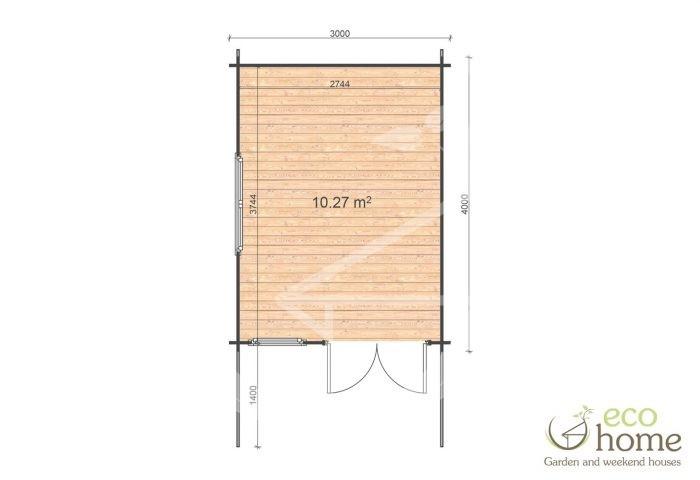 Garden Log Cabin Alva 3x4 Floor Plan Log Cabins Ireland For Sale