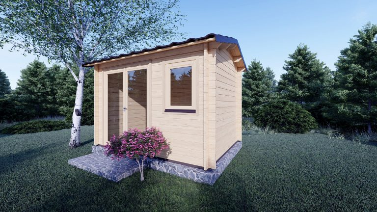 Garden Log Cabin Erna 3.4m X 2.5m 2