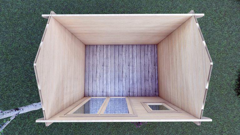 Garden Log Cabin Erna 3.4m X 2.5m 4