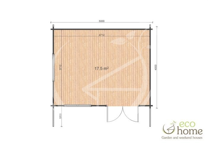 Garden Log Cabin Ireland Log Cabins For Sale Linus 5x4 Floor Plan