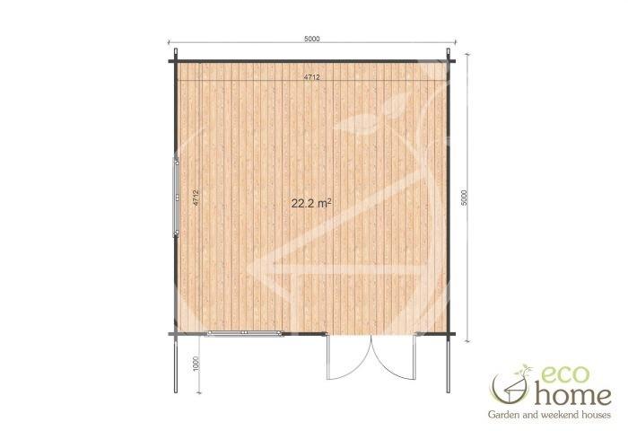 Garden Log Cabins Ireland Linus 5x5 Floor Plan