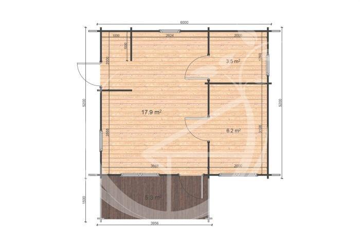 Hakan A 6x5,2 Floor Plan