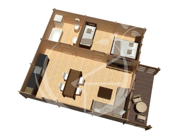Hakan B One Bedroom Log Cabin Ireland