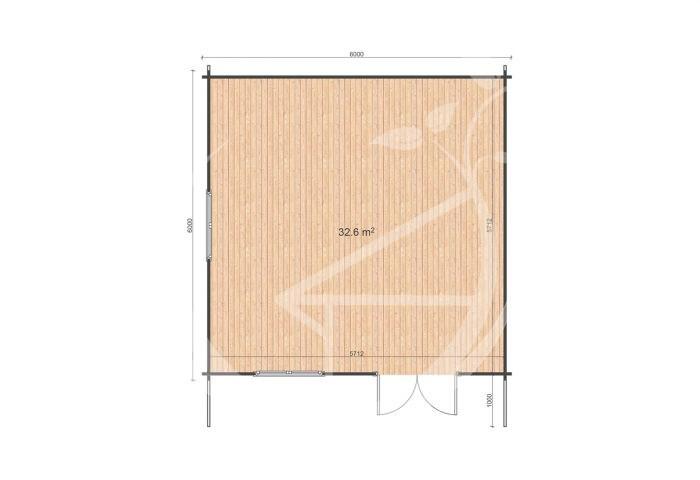 Linus 6x6 Floor Plan