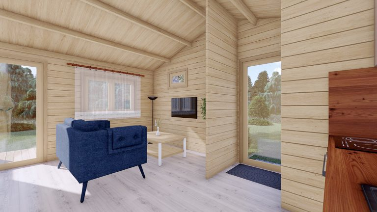 One Bed Log Cabin Hacan A11