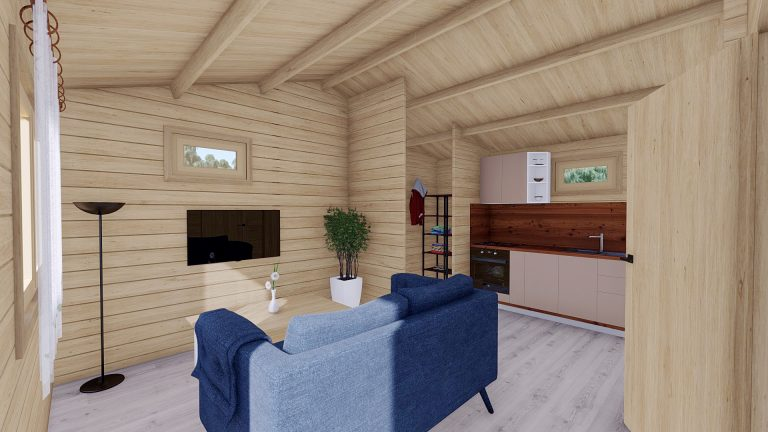 One Bed Log Cabin Hacan A8
