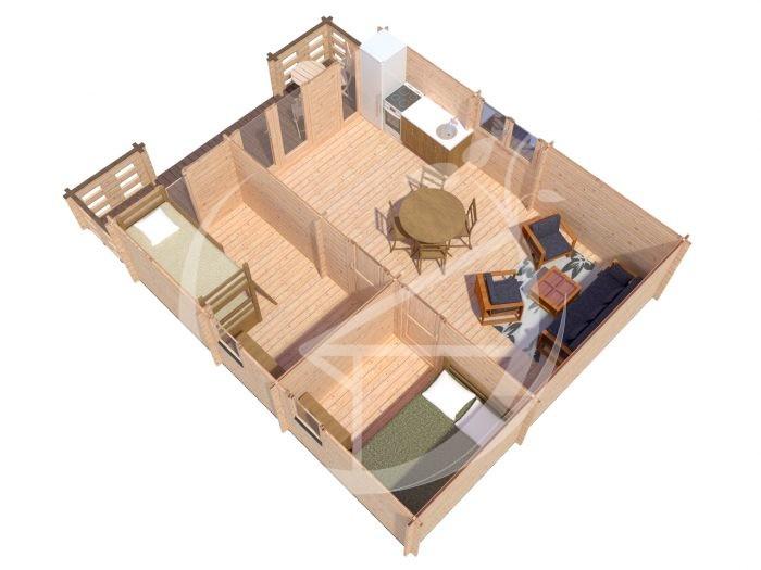 Padova B 6x6,5 Log Cabin For Sale Ireland