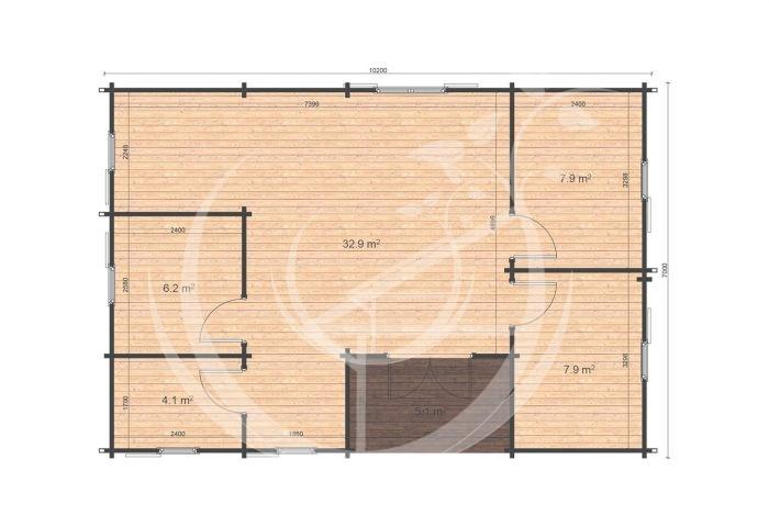 Scarlett 7x10,2 Floor Plan