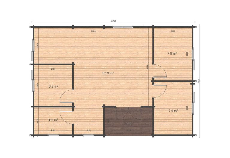 Scarlett 7x10,2 Floor Plan