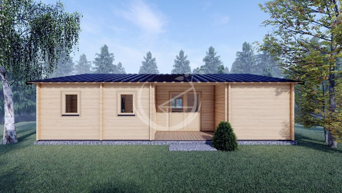 Three Bed Log Cabin In Ireland For Sale Scarlet 10.2m X 7m 1