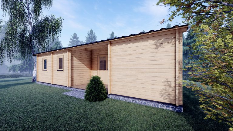 Three Bed Log Cabin In Ireland For Sale Scarlet 10.2m X 7m 2