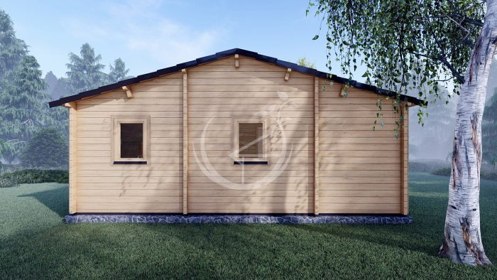 Three Bed Log Cabin In Ireland For Sale Scarlet 10.2m X 7m Ecohoume Log Cabins