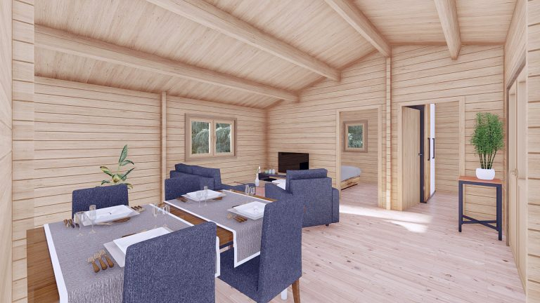 Three Bed Log Cabin In Ireland For Sale Scarlet 10.2m X 7m Log Cabins For Ireland