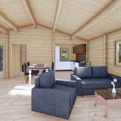 Three Bed Log Cabin In Ireland For Sale Scarlet 10.2m X 7m Log Cabins For Sale Dublin