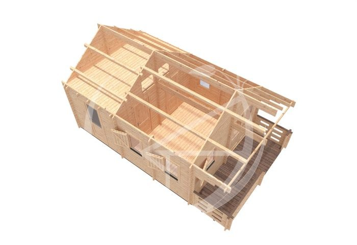 Torino 4,5x6 One Bed Log Cabin