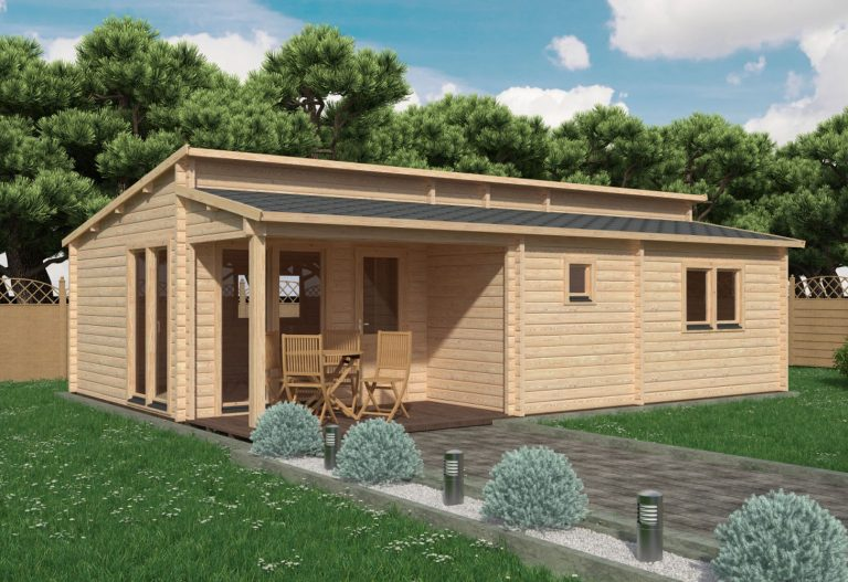Two Bed Log Cabin Iberica T2 6,36x8,86