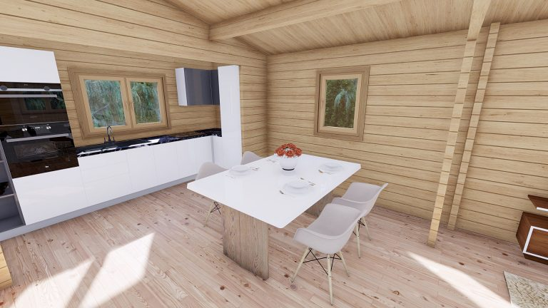 Two Bed Log Cabin Jennifer For Sale Ireland Ecohome