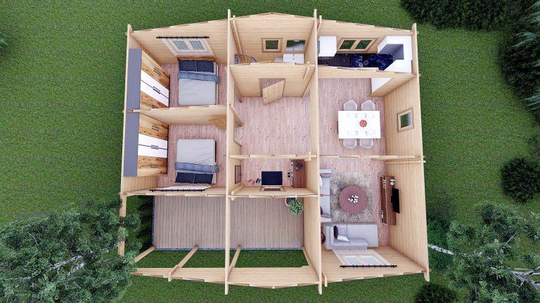 Two Bed Log Cabin Jennifer For Sale Ireland Log Cabins Dublin